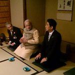 RT @MEAIndia: Tea Time! PM @AbeShinzo special Tea ceremony for PM @narendramodi http://t.co/grTuwZ86ba