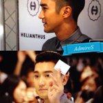 """หล่อมาก @Cell_407 Looks so good >_<! """"@sweadmire: 140901 Helianthus x #Siwon Collaboration promotion event @siwon407 http://t.co/p4NMLOgnIi"""