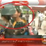 LOVE FOR ARMY: Protestor is kissing Ranger in front of #PTV building. #Islamabad #Pakistan #Sept01 http://t.co/6PO9izWfov