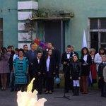 По традиции #1сентября чиновники выходят в уч. заведения. Вот, например, мин.культ. С. Ершов в гимназии №3 #Мурманск http://t.co/fWcQohknWC