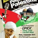 #Jogja Konser Amal Peduli Palestina bersama @opick_tomboati1. Ahad (7/9/14). Di XT Square. @InfoKNRP http://t.co/RCrW6g9506