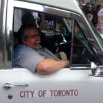 RT @CUPE129: Check it out @cupenat heres @jerrydobson416 rolling down the road in a vintage ride at Toronto Labour Day. @Local416 http://t.co/LZwWJTCoPE