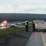 Update - driver taken to hospital with minor injuries - accident on ORR #nltraffic @590VOCM http://t.co/kLWzbRlJDp