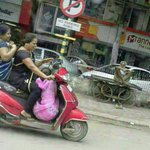 RT @50millionmissin: This photo endangering lives of 3 helmet-less women on a scooter is circulating as #Indias #Women Got Talent http://t.co/bj83YVcPPc ???