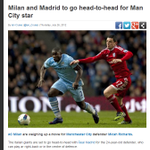 RT @SlowSportsNews: AC Milan and Real Madrid are to go head-to-head for Man City star Micah Richards #mcfc http://t.co/gnIvBl1aaC
