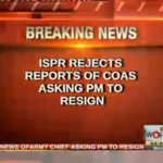 RT @WorldPTV: Breaking News... ISPR rejects reports of COAS asking PM to resign. http://t.co/r64Syt9b90
