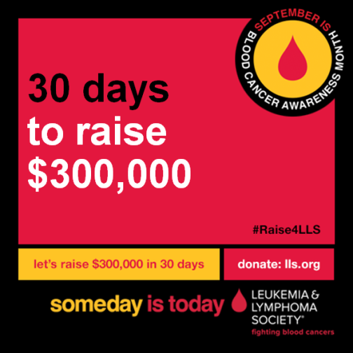 It's #BloodCancerAwarenessMonth! YOU CAN go beyond awareness and raise funding for life saving research. #Raise4LLS14 http://t.co/P4FZcO9RJI