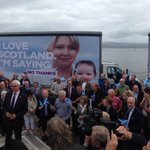 .@TogetherDarling launching our new posters with activists in Greenock today #indyref http://t.co/Q9So4sehuh