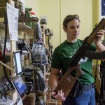 Sanctions against Russia mean an end to AK-47 imports. Thus a gun-buying frenzy in US. http://t.co/lhfXiJcDzJ http://t.co/I1p0OWQqbw