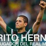 "RT @EurosportCom_FR: OFFICIEL: Javier ""Chicharito"" Hernandez (MU) rejoint le Real Madrid sous forme de prêt avec option dachat #mercato http://t.co/vSV0fUoGn5"