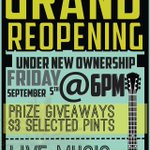 RT @TheGroverPub: Were under new ownership! Join us for our grand reopening on Fri Sept 5 at 6pm http://t.co/wB00222rTt #toronto #pub http://t.co/CgzZVCmPNy