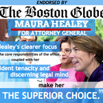 RT @maura_healey: So proud to be endorsed by the @BostonGlobe in the race for #maag. Read it here! http://t.co/WGaH9OdEea #mapoli http://t.co/0jkmcxYiU0