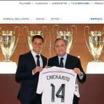 RT @efrenarguelles: Ya es oficial Javier el Chicharito Hernández pertenece al Real Madrid se viste de Merengue. @C3NPrimera http://t.co/7bAuk2FxfP