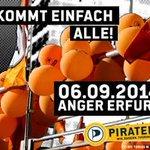 RT @Pirat_Kristos: Samstag 6. Sept., von 10-18 Uhr in #Erfurt #Piraten-Wahlkampfparty mit Politik + Musik Kommt vorbei! @Piraten_Erfurt http://t.co/wCyxGCs7q1