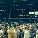 Standing O for #JackieRobinsonWest at Wrigley http://t.co/3fr3SKwdJS