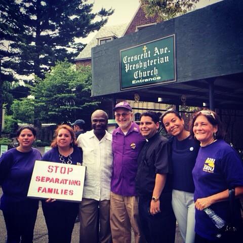 NJ Marching for #immigrationreform with Mayor Adrian Mapp & @NJWFA Exec Director Analilia #LaborDay #TimeIsNow #1u http://t.co/rmyKzSzP2r