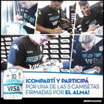 RT @bangho: ¡Ganá una camiseta autografiada de #ElAlma! ¡Hacé RT y participá! Podés sumar una chance cada día. #MePongoLaCamiseta http://t.co/ZgyHHsGwyG