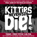 RT @RiverCats: This is it. Win or go home. 1:05 first pitch at @RaleyField. http://t.co/FyAKjmRBQY