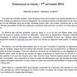 Retrouvez le communiqué de notre groupe sur la rentrée scolaire à Nantes. Bon courage à tous pour la reprise ! http://t.co/hjvlHQaxuO