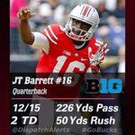 S/O to J.T. Barrett! @B1Gfootball co-freshman of the week! #GoBucks http://t.co/yx09zLwJU2 http://t.co/a7K2dkHqmK