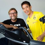 RT @SanBorussia: Jürgen Klopp with Shinji Kagawa today (via @BVB). #BVB http://t.co/RmmnOUrKYX