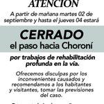 Hoy ejecutarán trabajos de remoción, estabilización, drenaje y reconstrucción de la calzada. http://t.co/uSvs9nTRuI #Choroni #Aragua