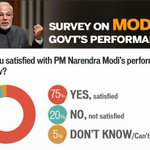 RT @htTweets: #Modi100 | 75% of people who took our Modi survey said they are satisfied with his performance http://t.co/ReWmfOYEpO http://t.co/qlFOuIqKaZ
