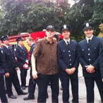 With members of @Toronto_fire and @tpffa members. Thanks for keeping us safe, guys. #TOpoli #LabourDay http://t.co/3xzx4UMTxR