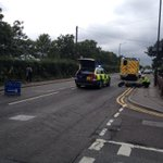 @Bournemouthecho Wallisdown Rd is closed following a collision involving a motorcycle and a van http://t.co/lJ7dXcNKyz