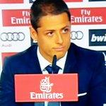 """""""La perfección no existe, pero hay que buscarla"""", dijo Javier Hernández en su presentación con el #RealMadrid http://t.co/2mRgf0OWiA"""