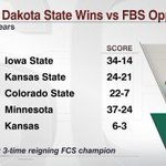 RT @CollegeGameDay: Fear the #Bizon! North Dakota State has more #Big12 wins than Kansas does over the last 4 seasons. http://t.co/8ni3jBYvMY