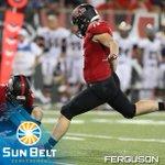 RT @SunBelt: Congratulations to K Luke Ferguson of @RedWolvesFBall, the Sun Belt Special Teams Player of the Week! #FunBelt http://t.co/3hBJd33B2I
