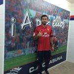Karim Ansarifard se ha puesto por primera vez la camiseta de #Osasuna http://t.co/QD1u4QK5wG