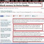 RT @bcchristopher: Gadhkari:21 lakh crores stashed away by Indians in Swiss banks. Make list public. Will BJP do it? #WhereIsBlackMoney http://t.co/vaDrFlnlUS