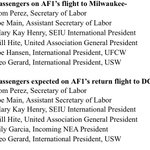 Passengers aboard Air Force One for Obamas Labor Day trip to Milwaukee: http://t.co/JqKGLW4VPl