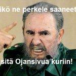 RT @Managerihiltune: Fidel Castro sai juuri viestin, että Kuuba on hävinnyt Suomelle lentopallon MM-kisoissa. #ylemmlentis #mmlentis http://t.co/TnmeUUVgUO