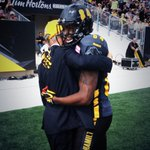 RT @Ticats: .@BGrant84 presents @CaretakerBob with the ball he caught to score the 1st TD in Tim Hortons Field history. #Ticats http://t.co/orCkg7R7MZ