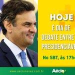 RT @AecioNeves: Aécio participará, às 17h45 desta segunda-feira, do debate no SBT. Participe! #MudaBrasil #EquipeAN http://t.co/GHAM6wDZ2O