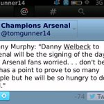 RT @ozil_facts: Former Liverpool midfielder Danny Murphy on Danny Welbeck to Arsenal RT@tomgunner14 Hope SO http://t.co/8Tq60XEp0z