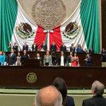 En sesión de Congreso General en @Mx_Diputados recibimos el 2o. Informe de Gobierno del presidente @EPN http://t.co/4B7ffW72R6
