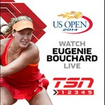 RT @TSN_Sports: COMING UP: Canadas Genie Bouchard hits the @usopen court at 3:20 PM ET on TSN2 http://t.co/cyTjDJUFz6
