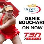 RT @TSN_Sports: LIVE NOW: Canada's Genie Bouchard takes on Ekaterina Makarova at the @usopen on TSN2 http://t.co/fNg2vmWfxJ