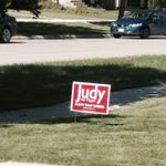 RT @kevin_engstrom: So it begins. The first election sign goes up in my neighbourhood. @Judy_WL with the early lead. #wpg14 http://t.co/s3qqRKIj0Y