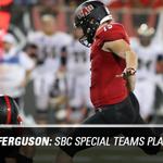 RT @AStateRedWolves: Congrats to @RedWolvesFBall P/K Luke Ferguson for being named SBC Special Teams POW. http://t.co/1urJASePNA http://t.co/vLkrBTEjTH