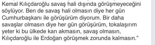 Ben Kılıçdaroğlu'nun yerinde olsam, Demirtaş'ın bu ayarından sonra bir süre evde dinlenirdim; http://t.co/FMCqQ4BBuC