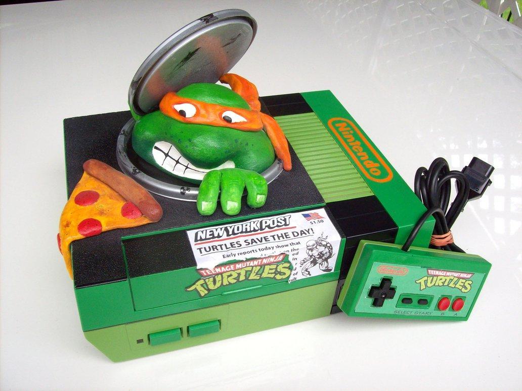 NES custom Tortues Ninja par mbtaylorproductions #TMNT #NES #nintendo http://t.co/TaWtxz31Nu
