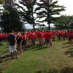 RT @mcclatch: Opening ceremonies @huronatwestern about to start. http://t.co/Cg6oVjCXBV
