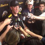 """RT @Ticats: Coach Austin gives a game ball to the fans: """"They were awesome today."""" #Ticats #CFL http://t.co/fAVcFyufoB"""