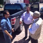 """@JavierDagnino: Con @cjarias1 de @uepcsonora y @19_vidalvaz Alca de Arizpe Coord #SalvemosAlRio @rromerolopez #066 http://t.co/59yJQbPLBI"""