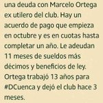 RT @DiegoMartinez_C: #DCuenca mantiene una deuda con Marcelo Ortega ex utilero del club. Acá el detalle. @ondasazuayas @FactorMradio http://t.co/y3RTTR5HqJ